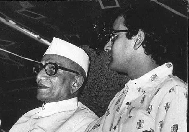 Young Arun Jaitley (right) with Morarji Desai