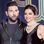 Yuvraj Singh with Deepika Padukone