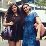 Ketika Sharma with her Mother