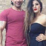 Ketika Sharma with her Brother