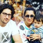 Shaad Randhawa with his wife and son