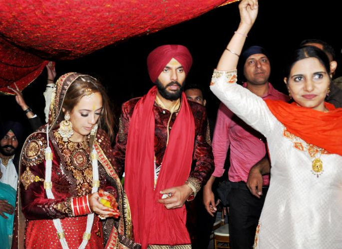 Yuvraj Singh & Hazel Keech post wedding return