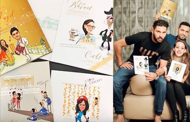Yuvraj Singh & Hazel Keech wedding card