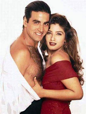 Akshay Kumar and Raveena Tandon