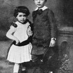 Albert Einstein with his sister Maja