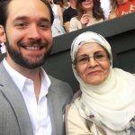 Alexis Ohanian with his mother