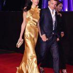 Amar Clooney with her half Brother Samar