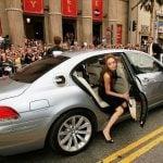 Angelina Jolie BMW Hydrogen 7