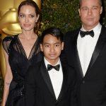 Angelina Jolie with Maddox and Brad Pitt