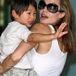 Angelina Jolie with Pax Thien