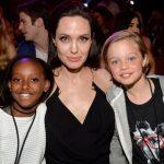 Angelina Jolie with Zahara and Shiloh