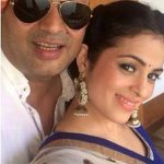 Anjana Sukhani with her brother
