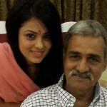 Anjana Sukhani with her father
