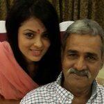 Anjana Sukhani with her father