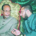 Asaduddin with his father Salahuddin Owaisi