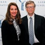 Bill Gates with his wife
