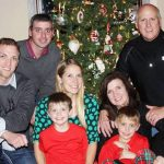 Brent Goble with his family