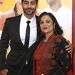Dayal with his Mother