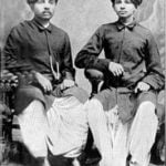 Gandhi(right) and Laxmidas(Left)