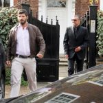 George Michael with his boyfriend Fadi Fawaz