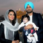 Harbhajan Singh and Geeta Basra with their daughter Hinaya Heer Plaha