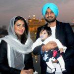 Harbhajan Singh and Geeta Basra with their daughter Hinaya Heer Plaha
