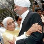 Jagdish Singh Khehar with his mother