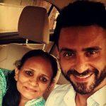 Jatin Sapru with his mother