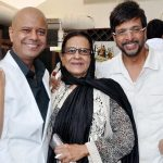 Begam Jaffry with son Javed Jaffrey and Naved Jaffrey