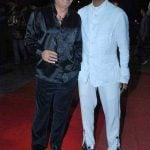 Javed Jaffrey with his father Jagdeep Jaffrey