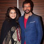 Javed Jaffrey with present wife Habiba