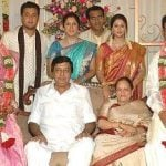 Nagma with her mother, step-father, and half-siblings
