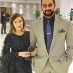 Lee Elton with her husband Arunoday Singh