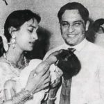 Nutan with her husband