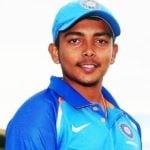 Prithvi Shaw Height, Age, Family, Biography & More