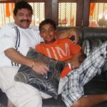 Prithvi Shaw with Sanjay Potnis