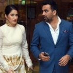 Zaheer Khan with his wife Sagarika Ghatge