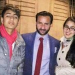 Saif Ali Khan with his son Ibrahim and daughter Sara
