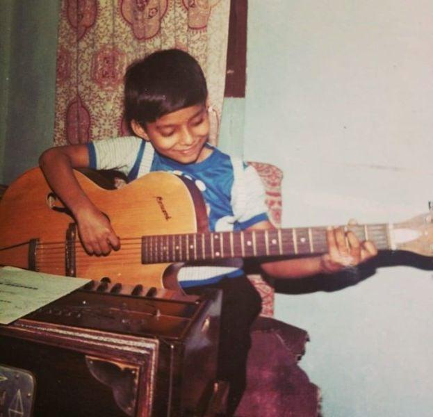 Tanishk Bagchi in his Childhood days