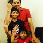 Vinay Jain With His Sons (Elder-Rehaan (Above)), (Ranveer-Younger (Below))