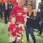 Wayne Rooney with his children Kai Wayne(eldest) Klay Anthony and Kit Josheph and Wife