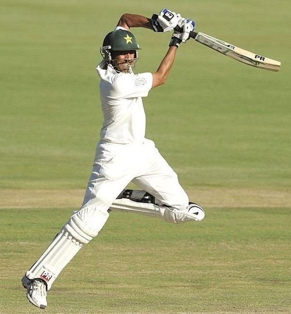 Younis Khan Batting in a Test match