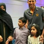Younis Khan with his wife and children