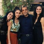 Yousaf sisters with their father