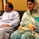 Maryam Nawaz with Nawaz Sharif