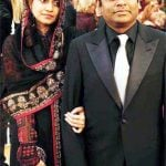 A. R. Rahman with his wife
