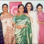 Actress Rekha with her sisters