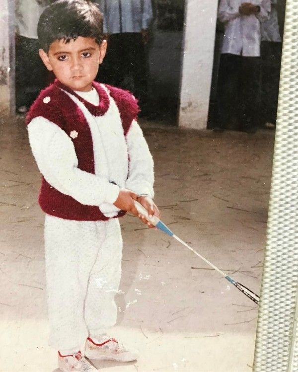 Amrit Maan's childhood pic