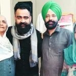 Amrit Maan with his parents and grandmother