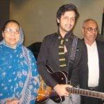 Atif Aslam With His Parents